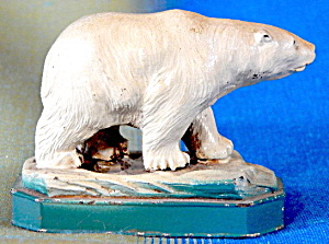 Vintage Metal Polar Bear