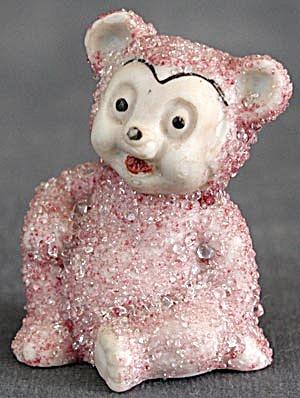 Vintage Pink Bear Sitting Figurine (Image1)