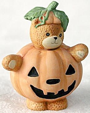 Lucy And Me Bear Dressed As A Pumpkin