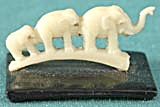 Vintage Celluloid Elephants on Black Base (Image1)