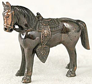 Vintage Metal Copper Plated Horse