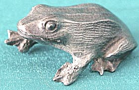 Vintage Tiny Pewter Frog