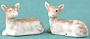 Vintage German Porcelain Mini Deer (Image1)