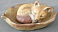 Harvey Knox Fox Sleeping on a Leaf Figurine (Image1)