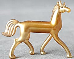 Vintage Gold Glass Horse Figurine (Image1)