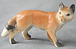 Vintage Porcelain Pair of Fox (Image1)