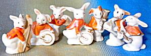 Vintage Bunny Rabbits Playing Instruments set Of 7 (Image1)