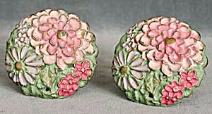 Vintage Metal Floral Curtain Tie Backs (Image1)