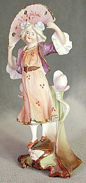 Art Nouveau Miniature Girl Vase (Image1)