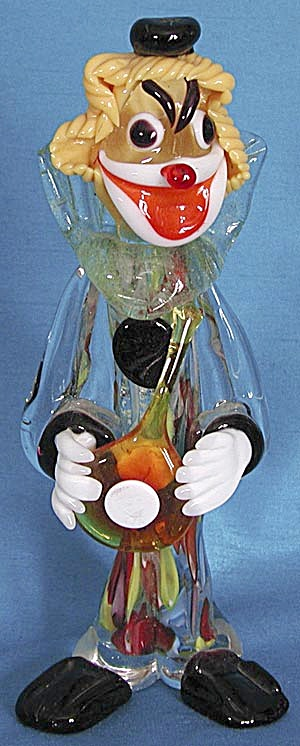 Vintage Glass Clown