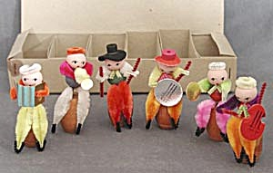 Vintage Chenille Musicians Set Of 6
