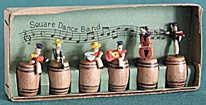 Vintage Square Dance Band Figurines In Original Box