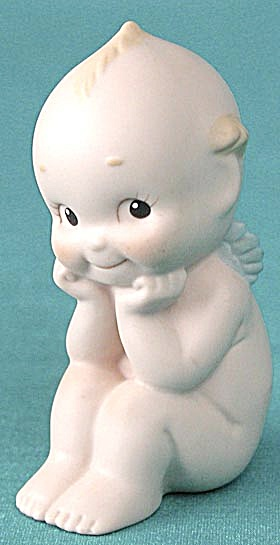 Vintage Enesco Rose O'neill Kewpie Thinking