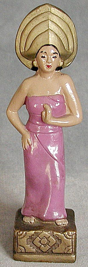 Vintage Woman In Sarong Figurine