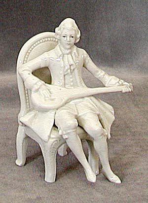 Antique White Porcelain Man Figure