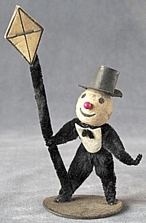 Vintage Spun Cotton & Chenille Pipe Cleaner Man