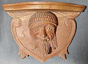 Antique Wooden Carved Wall Shelf (Image1)