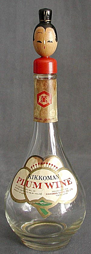 Vintage Kikkoman Plum Wine Lady Bottle