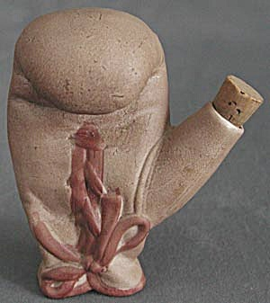 Vintage Bisque Boxing Glove Miniature Bottle (Image1)