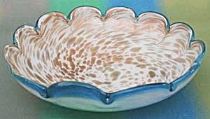 Vintage Scalloped Edge Murano Large Glass Bowl (Image1)