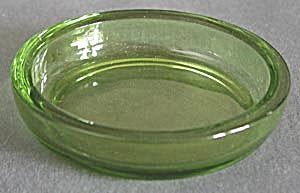 Vintage Olive Green Small Dish