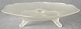 Vintage 3 Legged Frosted Glass Bowl (Image1)