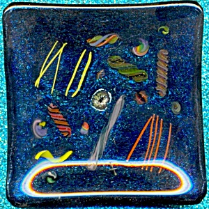 Square Art Glassdish