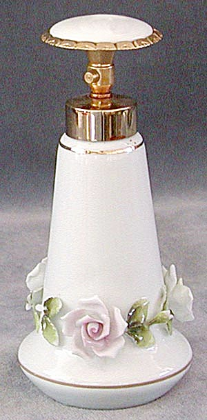 Vintage China Atomizer with Raised Flowers (Image1)