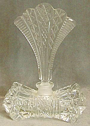 Vintage Cear Cut Glass Perfume Bottle
