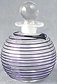 Vintage Cobalt Swirl Perfume Bottle (Image1)