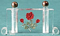 Art Deco Lucite Flower Reverse Carved Double Perfume