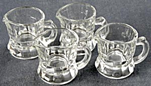 Vintage Mini Glass Pitchers Set of 4 (Image1)