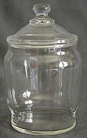 Clear Glass Candy Container (Image1)