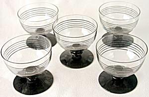 Vintage Amethyst Base Sherbets set of 5 (Image1)