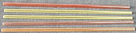 Vintage Glass Striped Straws Set Of 5