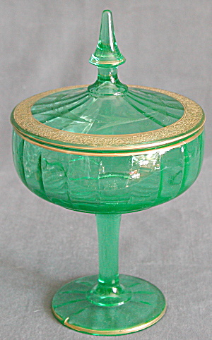 Vintage Green Candy Jar