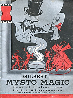 Vintage Gilbert Mysto Magic Book Of Instructions