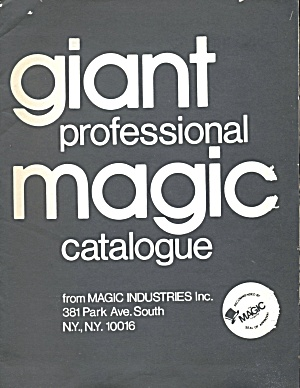 Vintage Giant Professional Magic Catalog