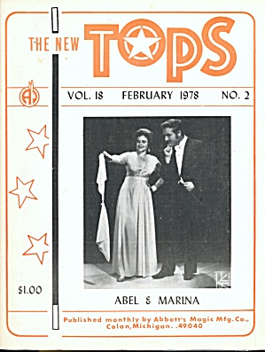 Vintage The New Tops Magic Magazine