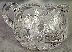 Libby Cut Glass Creamer