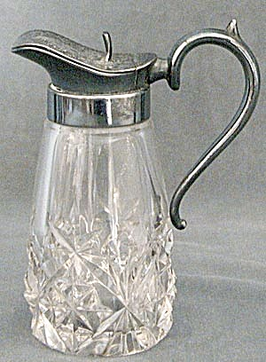 Antique Cut Glass Syrup Pitcher (Image1)