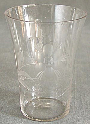 Antique Wheel Cut Glasses Set of 3 (Image1)