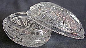 Vintage Cut Glass Egg Box (Image1)