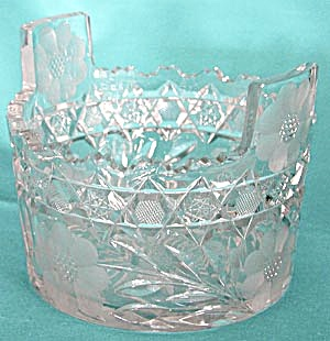 American Brilliant Cut Glass Heavy Ice Bucket