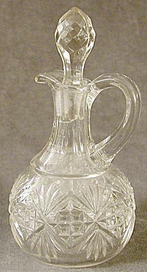 Vintage Mitre Cut Glass Cruet (Image1)