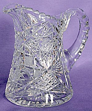 Vintage Cut Glass Pitcher (Image1)