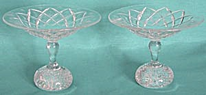 Vintage Pair of Cut Glass Compotes (Image1)