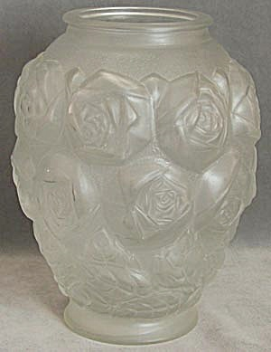 Antique Large English Pickle Jar with Roses (Image1)