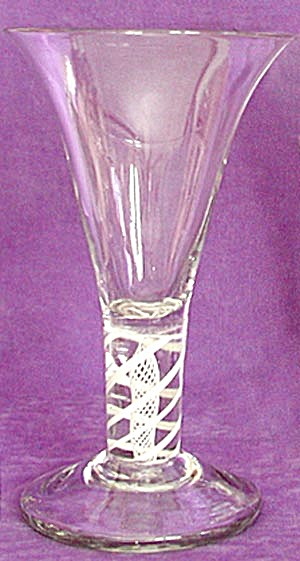 Antique Paperweight Type Stemmed Glass (Image1)