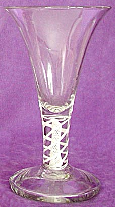 Antique Heavy Paperweight Type Stemmed Glass (Image1)